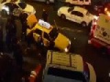 Cops Lift NYC Taxi To Free Trapped Man