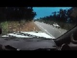 Car Loses Control On Wet Road In Australia - Dash Cam
