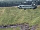 Dutch Chinooks And Apache Low Level At Bombing Range. 2 Vids