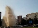 Defect Fountain Causes Emergency In Saint Petersburg