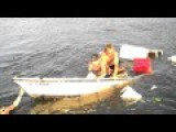 Drunk Boys Fall Off The Boat