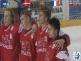 Danish National Team Goalkeeper Scores A Goal At The Ice Hockey U18 World Championship