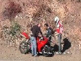 Ducati 848 Crash In Front Of CHP Officer - Malibu- California