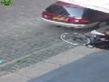 Drunk Danish Guy 'carries' His Bike