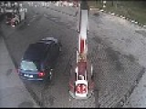 Driver Rips Pump From Station - Guess Who's Driving ?