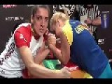 European Women Exorcism Championship 2013 In Arm Wrestling