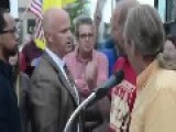 Father Of Gun Violence Victim Heckled At Rally. Concord, NH