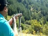 Firing Steyr 1900 Rifle 7mm, Keep Your Head Down