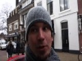 Funny Wasted Tourist Films Glass Ball In The Middle On The Street
