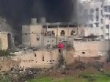 FSA Terrorists Burning Jobar's Central Mosque : Damascus, Feb 6th, '13