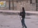 FSA Rambo Hit By Syrian Arab Army Sniper