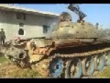 FSA Tank Destroyed By SAA Shell In Front Of The Camera
