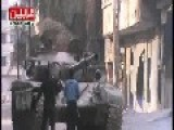 FSA Field Commander Trying To Command A Tank From The Outside