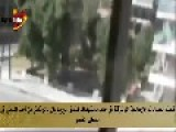 Free Syrian Army Shooting At The Meridian Hotel In Aleppo From Civilian Houses