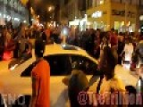 Fashion Night Out Party Mob Destroys AUDI As Owner Sits Inside And Does Nothing