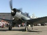 F4-U Corsair Starts Up And Taxi