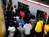 Guy Trying To Exit Train, Is Forced Back On By New Passengers