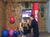 Girl Boxing Training