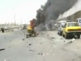 Graphic- Suicide Bomber Aftermath- Kills 9 Civilians On A Baghdad Highway