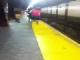 Guy Gets Electrocuted On 3rd Rail In NYC 34th Street Train