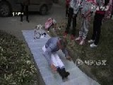 Girls Watch 67 Yo Man Showing Off Kung Fu Skills