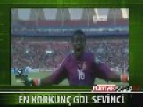 Ghanian Soccer Player's Horrifying Celebration