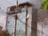 Heavy Fire In A Office Building In Bucharest, Romania