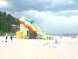 Huge Inflatable Slide Blows Away