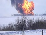 Huge Raging Fire Due To Accident With Fuel Pipeline In Chelyabinsk Region, Russia