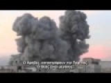 Heavy Explosion On Rebel Hide Out By Syrian War Plane