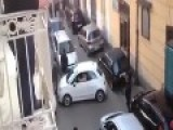 Italian Man Trying To Park A Car