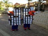 Israeli Children Dress Up As The Burning Twin Towers Picture
