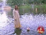 Jesus Christ Is Seen Walking On Water In A Montreal Park