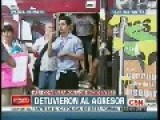 Journalist Attacked During Protests In Buenos Aires