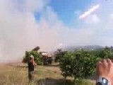 Leaked From Syria : Regime Artillery Striking The City Of Homs With Rockets