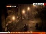 Large Bursting Fireworks Shot At Egyptian Riot Police Alexandria,Egypt
