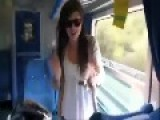 Lucky Girl Is Nearly Decapitated By Oncoming Train