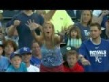 Little Kid Jumps Right In Front Of Woman To Snatch Away Baseball