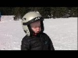 Little Boy Falls Asleep Standing Up Skiing
