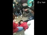 Landlord Pinned Down By Students For Cheating