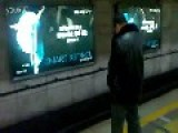 Man Casually Urinates On Beijing Subway Platform