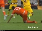 Mexican Soccer Player Efrain Juarez Breaks Arm After Tackle