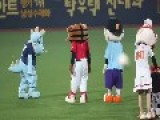 Mascot Dance Off At Korean All Star Baseball Game