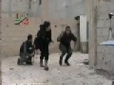 Mujahedeen Throw Home Made Granades At Assadists