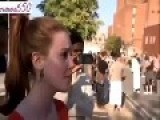 MUSLIMS TELL YOUNG BRITISH LADY TO GO TO HELL