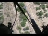 Mexican Marines Firing From Helicopter To Narco