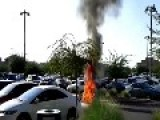 Motorcycle Explodes After Spontaneous Combustion