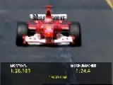M.Schumacher Pole In Melbourne 2003