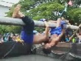 Muay Thai Pole Boxing......over Water, On A Pole