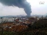 Massive Fire At Chemical Plant In Guiyang, Guizhou, China